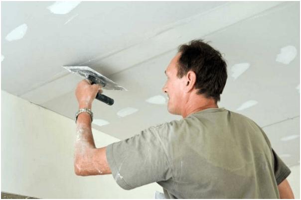 шпаклевать потолок из гипсокартона