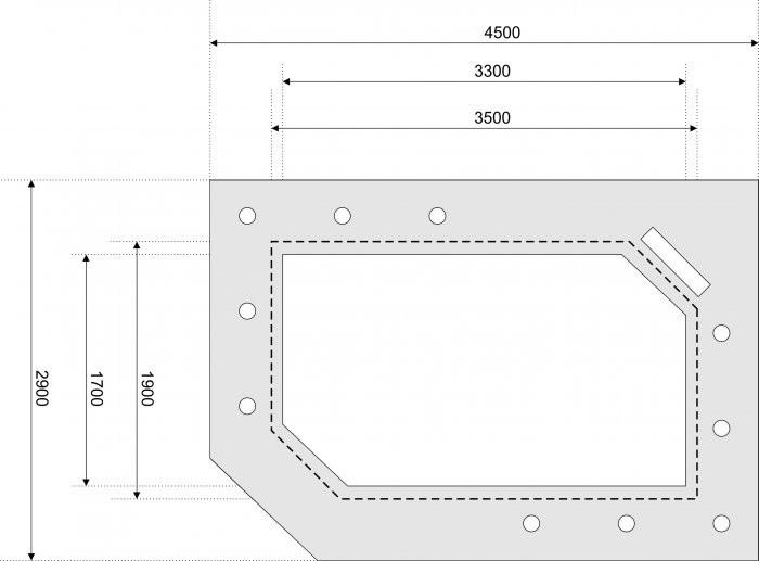 Двухуровневые потолки из гипсокартона чертеж на бумаге