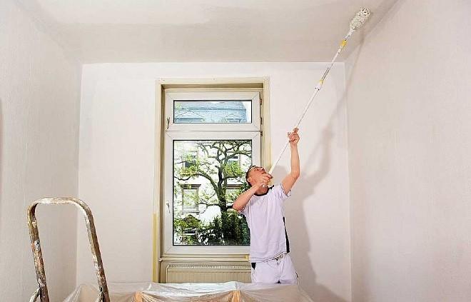 Как покрасить потолки из гипсокартона своими руками