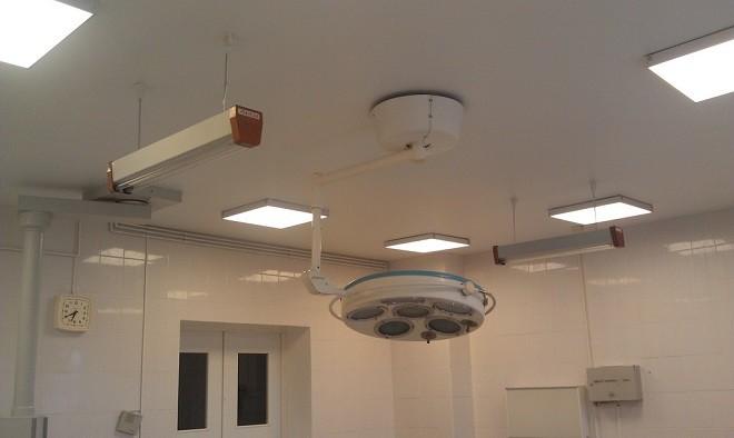 Натяжной потолок Clipso в операционной