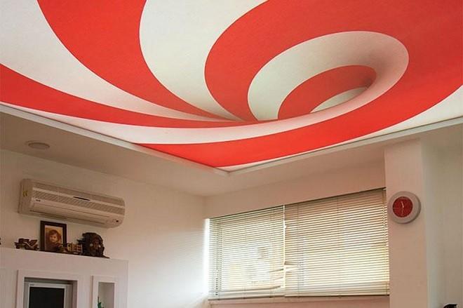 Натяжные потолки из пленки ПВХ на кухне