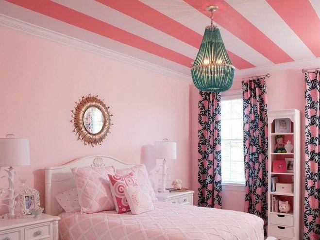 Покраска потолка и оклейка обоями