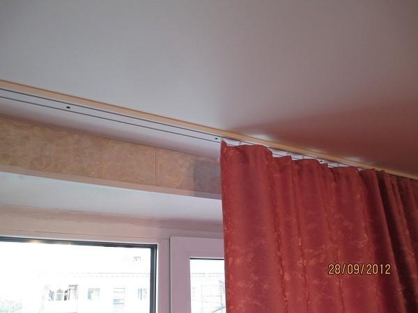 Потолочная гардина под натяжной потолок