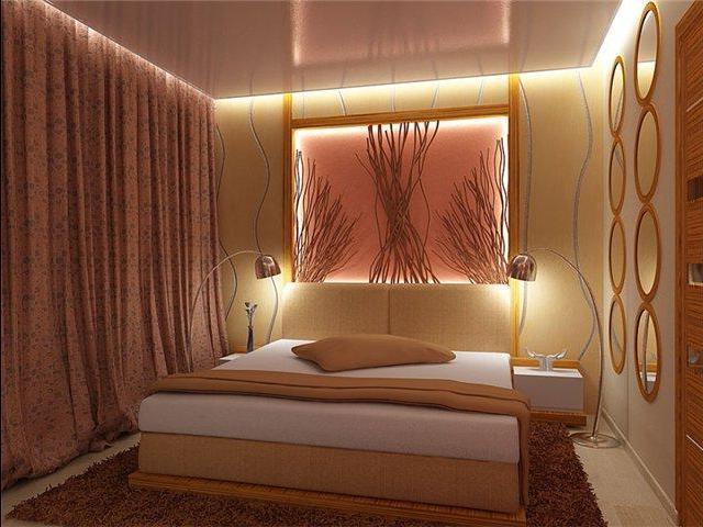 Дизайнерские приемы для отделки потолков в спальнях