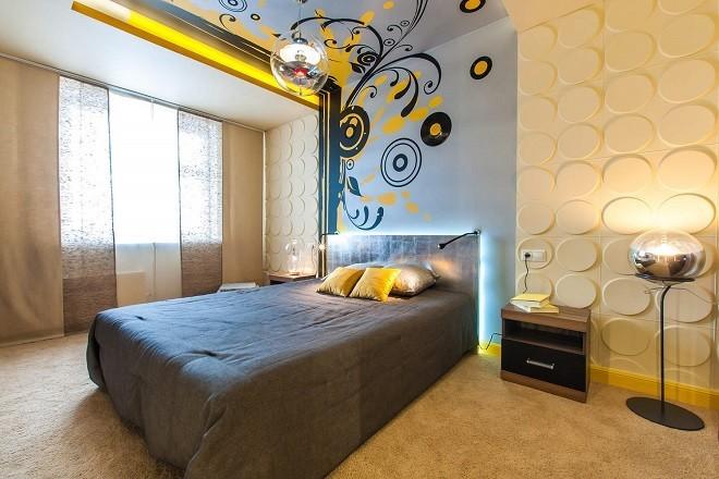 Каким сделать потолок в спальне: идеи дизайна