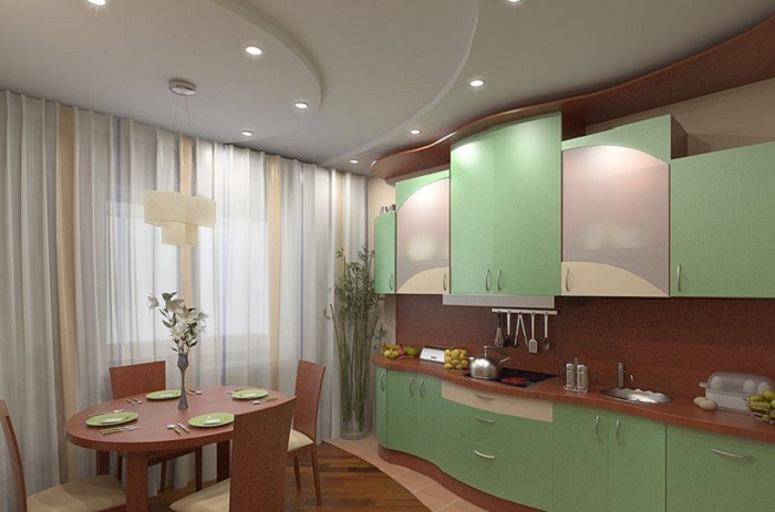 дизайн потолков Для кухни