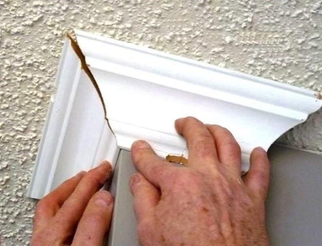 как сделать внешний угол потолочного плинтуса