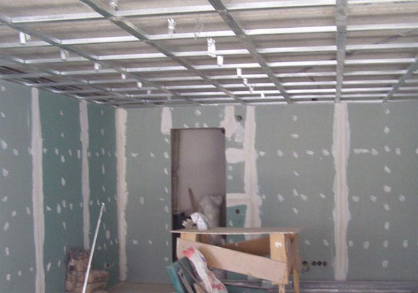 каркас на потолок под гипсокартон
