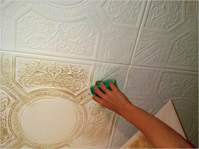 покрасить пенопластовый потолок