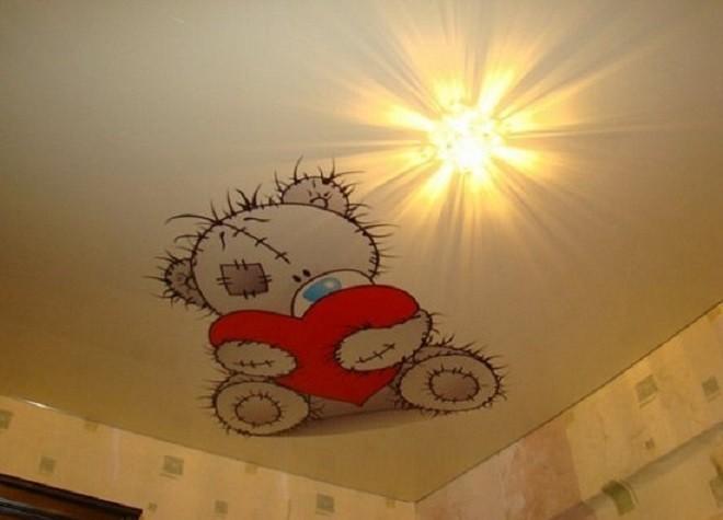 цвета натяжных потолков детская