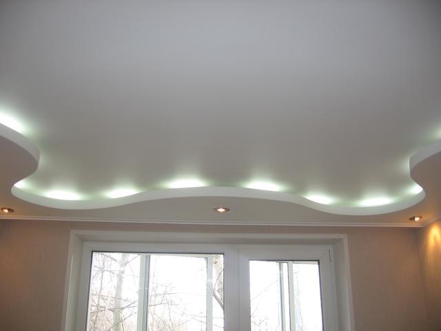 Дизайн двухуровневых потолков из гипсокартона