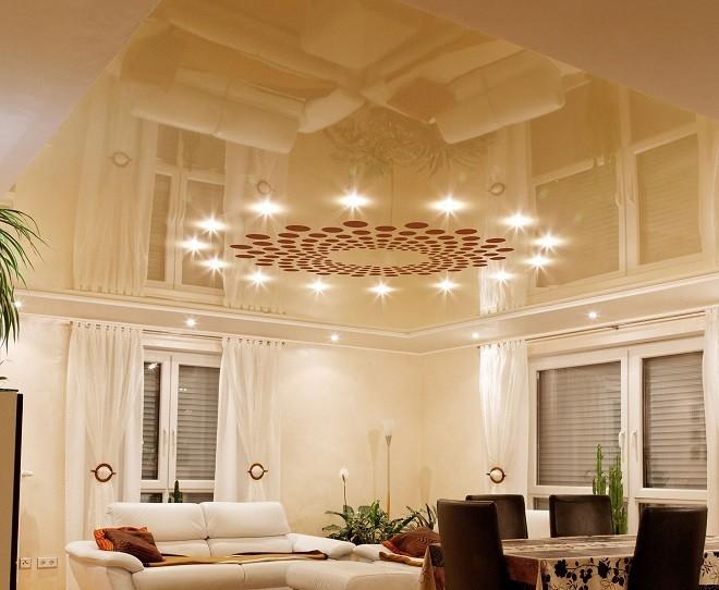 Освещение перфорированных потолков