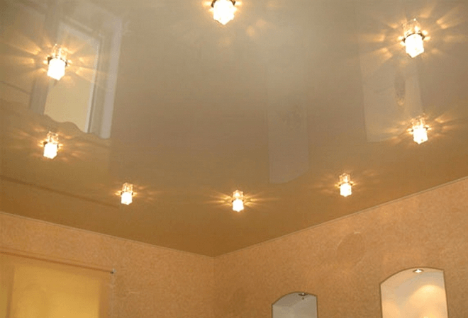 Пленочные натяжные потолки