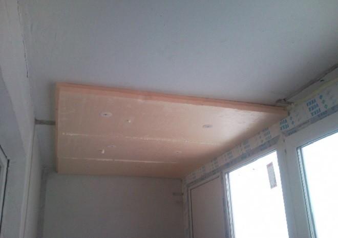 Применение пеноплекса для утепления потолка балкона