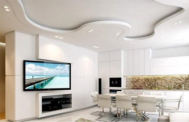 Способы освещения для двухуровневого потолка