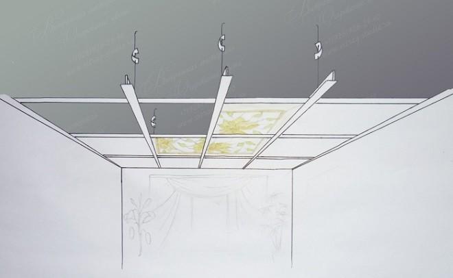 Витражный потолок своими руками каркас