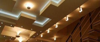 Многоуровневый потолок из гипсокартона с подсветкой своими руками