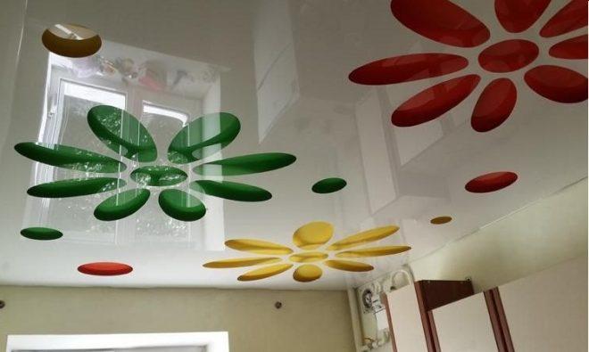 натяжные потолки перфорированные с рисунком