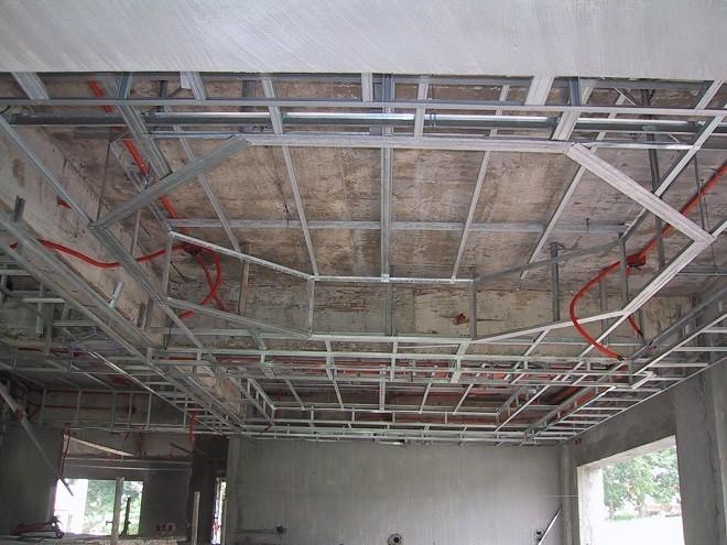 потолок в спальне из гипсокартона проводка