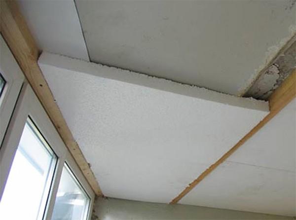 утепление пенопластом потолка