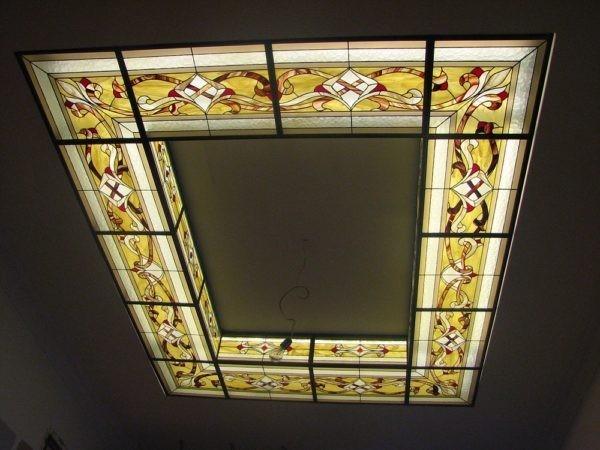 витражные потолки силикатное стекло