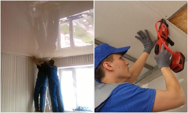 Какой потолок лучше подвесной или натяжной