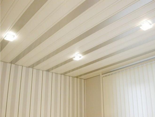 Потолки в кухне из пластиковых панелей