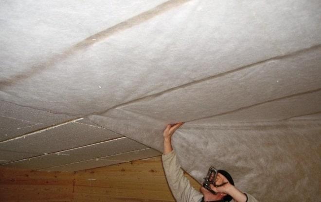 Утепление потолка изнутри гаража