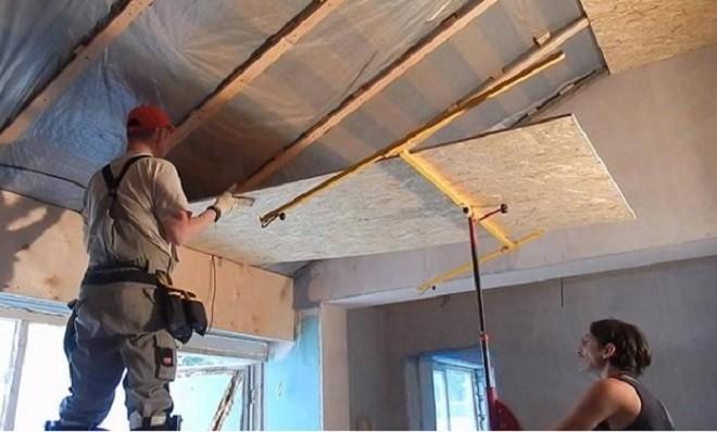 подшивка потолка