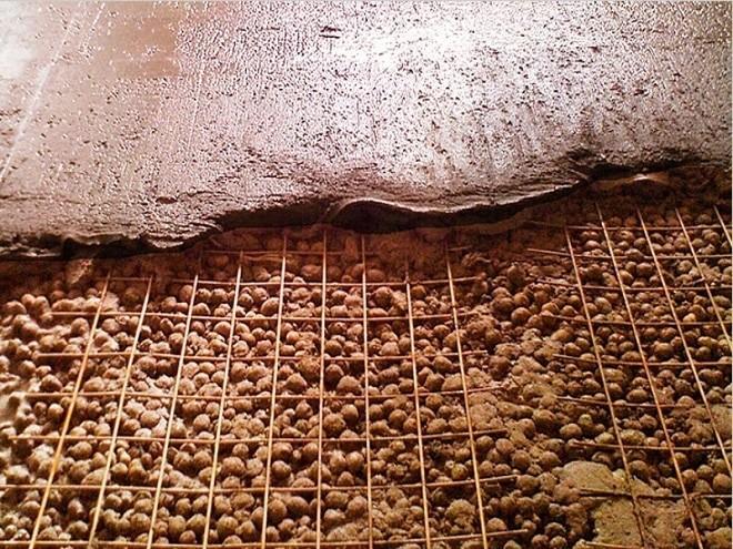 стяжка по утеплителю потолок в гараже