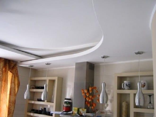 Чешский двухуровневый потолок из гипсокартона