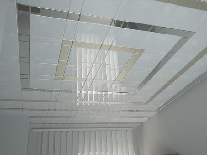 подвесные потолки из алюминиевых панелей