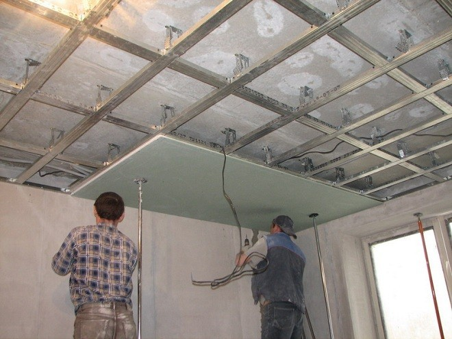 Монтаж потолка из гипрока
