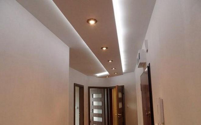 Подсветка потолка из ГКЛ