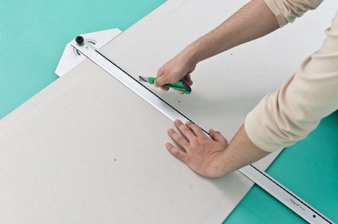 Нарезка гипсокартонных листов нужного размера