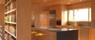 Потолок из деревянных реек и его монтаж