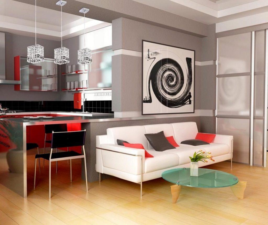 Кухня гостиная: дизайн и особенности планировки. Цвета для кухни гостиной