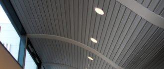виды потолков
