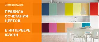 Сочетание цветов в интерьере кухни: таблица, цветовая гамма гарнитуров и правила