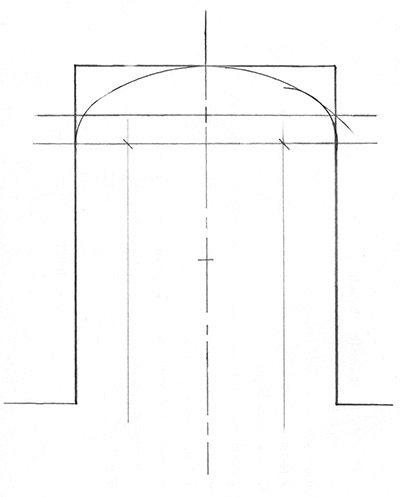 Выбор оптимального радиуса дуги