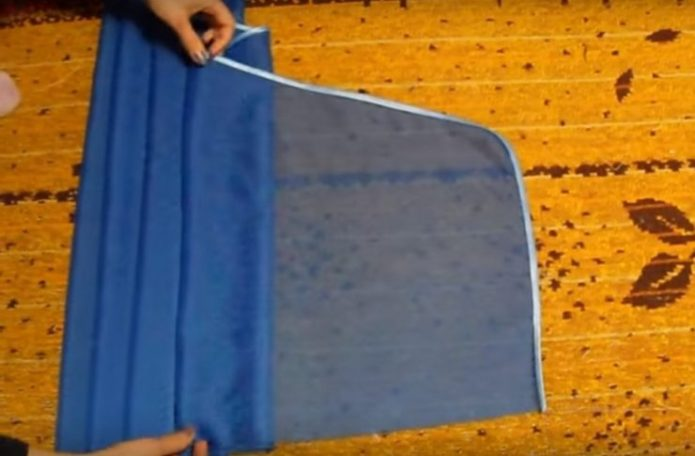 Драпировка ткани для ламбрекена