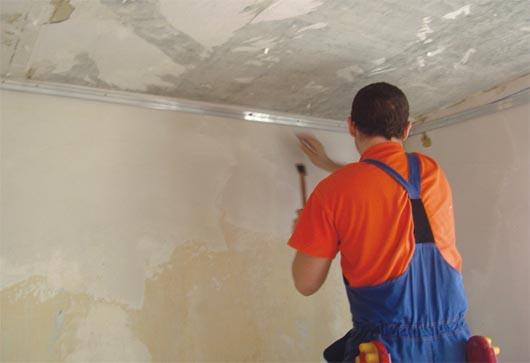 как штукатурить потолок из гипсокартона своими руками