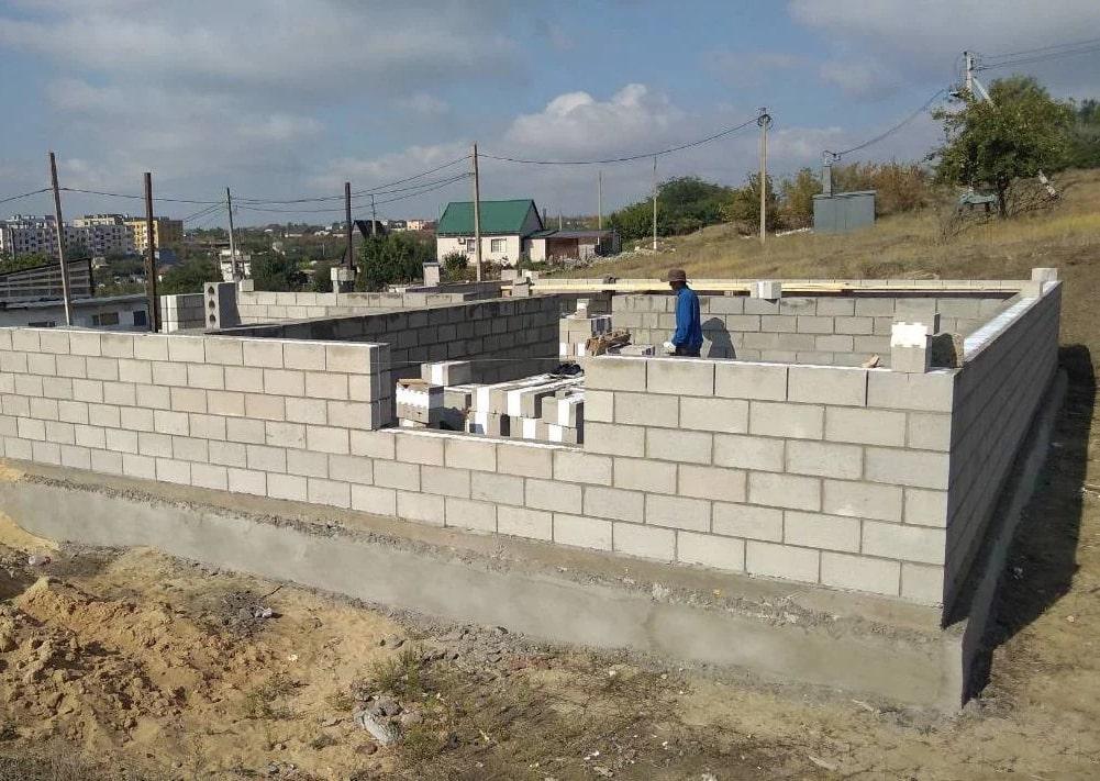 Фасадные керамзитобетонные блоки